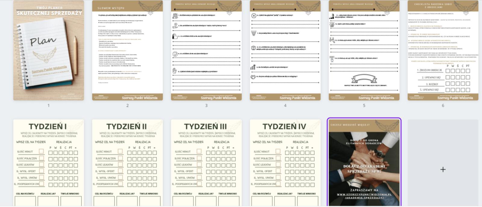 Planer sprzedaży do druku pdf